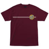 Santa Cruz Blue Other Dot T-Shirt Burgundy w/ Gold
