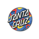 Santa Cruz Primary Dot Clear Mylar Sticker 3""