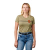Santa Cruz Classic Dot Fitted Women's T-Shirt Olive