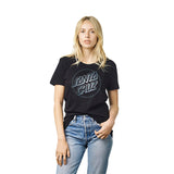 Santa Cruz Opus Dot Foil Womens T-Shirt Black