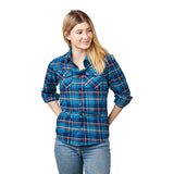 Santa Cruz Opus Womens Flannel Top Crushed Blue