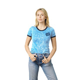 Santa Cruz Surge Dot Womens Ringer T-Shirt Acid/Navy