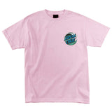 Santa Cruz Wave Dot Regular T-Shirt Pink