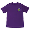 Santa Cruz Wave Dot Regular S/S Mens T-Shirt Purple w/Blue/Yellow