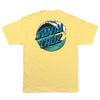 Santa Cruz Wave Dot Regular T-Shirt Banana
