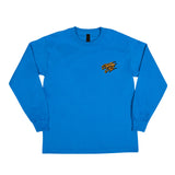 Santa Cruz Burndown Regular L/S Youth T-Shirt Royal Blue