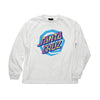 Santa Cruz Illusion Dot L/S T-Shirt Youth White