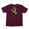 Santa Cruz Primary Hand Youth T-Shirt Burgundy