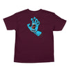 Santa Cruz Screaming Hand T-Shirt Youth Burgundy