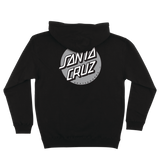 Santa Cruz Other Dot Pullover Hooded L/S Sweatshirt Black w/ Silver