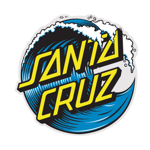 Santa Cruz Wave Dot Sticker 6 inch