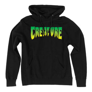Creature Logo Pullover Hooded Sweatshirt Black