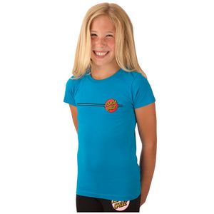 Santa Cruz Classic Dot Fitted Girls T-Shirt Turquoise