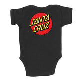 Santa Cruz Classic Dot Infant One Piece Black