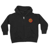 Santa Cruz Classic Dot Toddler Zip Hoodie Black
