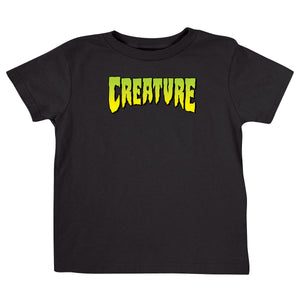 Creature Logo Toddler T-Shirt Black