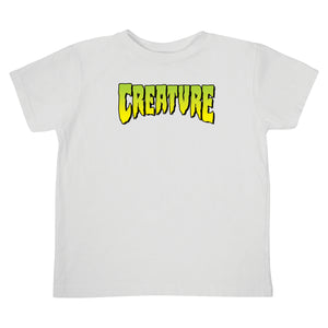 Creature Logo Toddler T-Shirt White