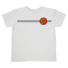 Santa Cruz Classic Dot Regular S/S T-Shirt Toddlers White