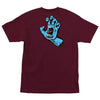 Santa Cruz Screaming Hand Regular Fit S/S T-Shirt Burgundy