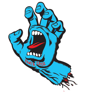 Santa Cruz Screaming Hand Sticker Blue 6 inch