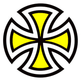 Independent Cut Cross Sticker Yellow 2 inch