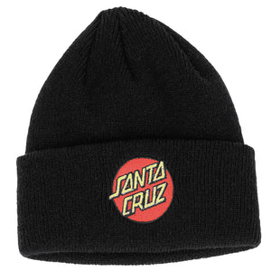 Santa Cruz Classic Dot Long Shoreman Beanie Black