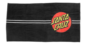 Santa Cruz Classic Dot Beach Towel Black