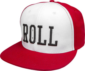 Real Roll Snapback Hat Red