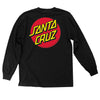 Santa Cruz Classic Dot Long Sleeve T-Shirt Black