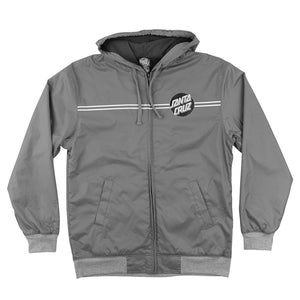 Santa Cruz Classic Dot Hooded Windbreaker Jacket Youth Charcoal