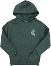 Santa Cruz Screaming Hand P/O Hooded Pullover Hood Youth Sweatshirt, Alpine Green