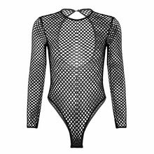 Load image into Gallery viewer, Fishnet Long Sleeve Swimsuit