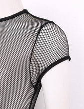 Load image into Gallery viewer, High Cut Fishnet Bodysuit