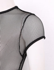 High Cut Fishnet Bodysuit