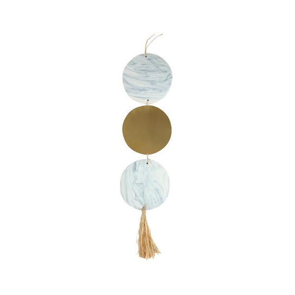 Marble + Brass Circle wall hanging