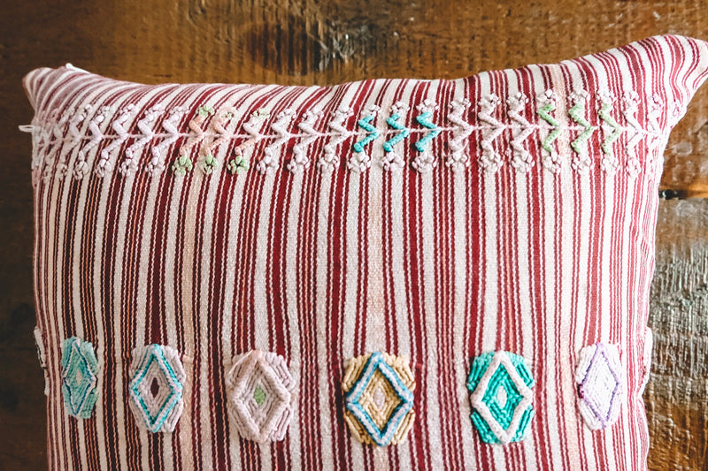 Handwoven Guatemalan Throw Pillow 01