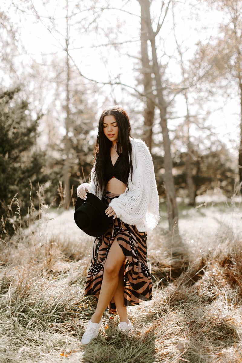 Tribal Print Wrap Skirt