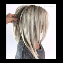 Load image into Gallery viewer, Balayage Icy Blonde, Antonino salon, salon 6, Tricho salon and spa,  Bianchi salon, Figo salon, Birmingham Salon, Schedule haircut online, Best Balayage in Michigan, Balayage Salon near me, Hair salons Birmingham, MI, Hair Salons Near me, Hair salon Near me, Hair Colorist near me, Color correction orange hair, Fix orange hair, Dimensional Balayage, Foilayage salon, Best Foilayage salon, foilayage salon near me, Best balayage salon near me, brunette balayage, blonde balayage,