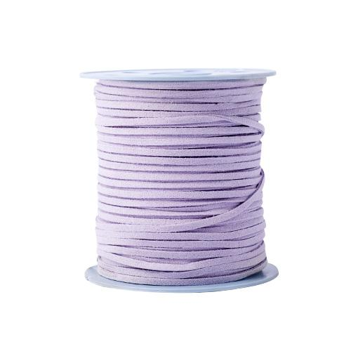 Hilo de Gamuza 3mm Rollo Color Violeta, 100 Yardas
