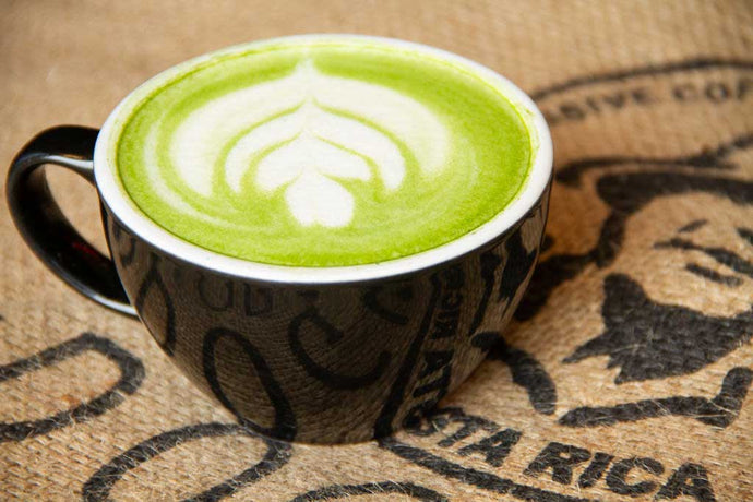 Oat Milk Peppermint Matcha from Dogwood Coffee