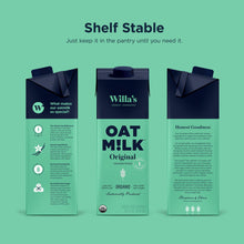 Load image into Gallery viewer, Unsweetened Original Oat Milk - Willa's