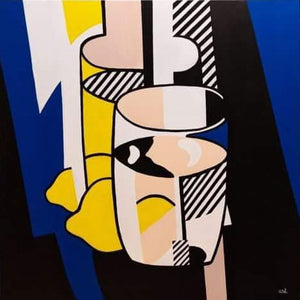 Glass and Lemon - Roy Lichtenstein
