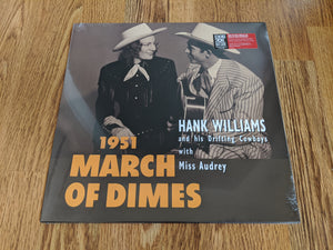 "Hank Williams and His Drifting Cowboys with Miss Audrey - 1951 March Of Dimes - New 10"" red vinyl - RSD20"