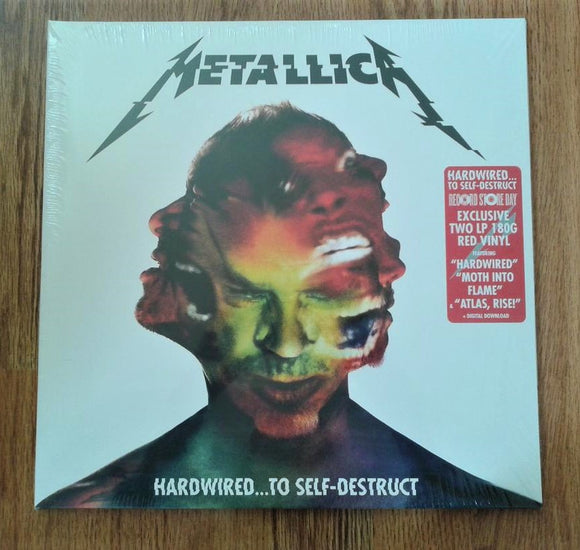 Metallica ‎- Hardwired...To Self-Destruct New Ltd Red 2LP