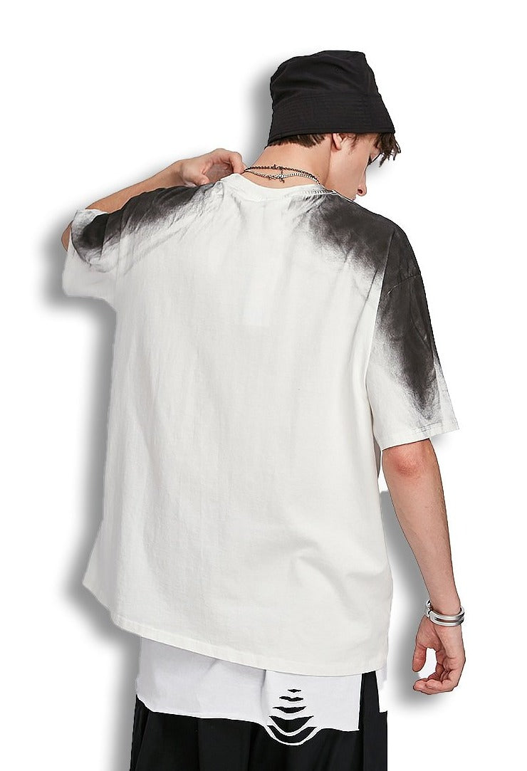 T-shirt tie dye papillon impression t-shirt