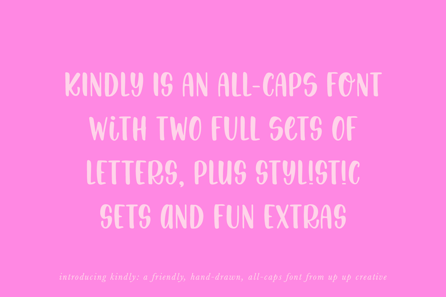 Kindly Handwritten Sans Serif Font