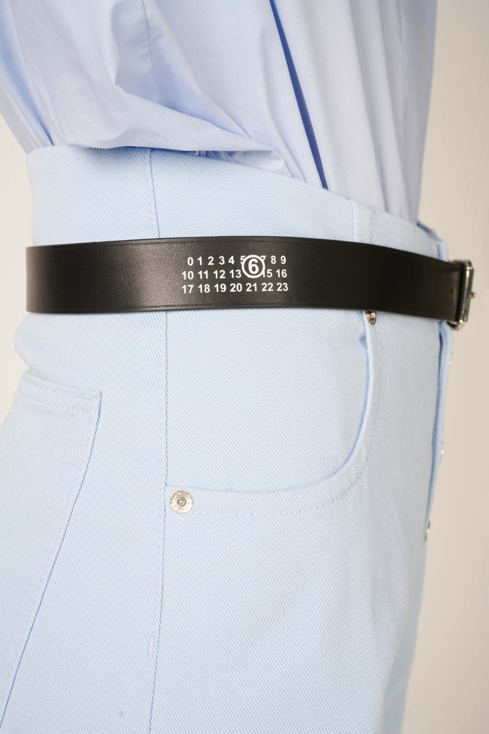 Logo print belt-Black - Studio Avra