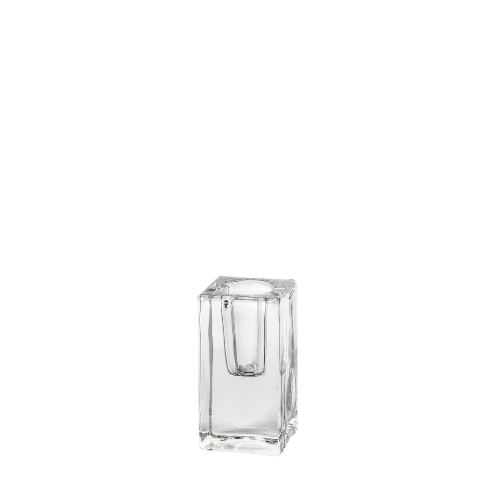 Classic Clear Glass Candle Holder