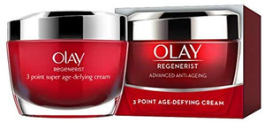 Olay Regenerist 3 Point Firming Anti-Ageing Cream Moisturiser with Hyaluronic Acid 50 ml