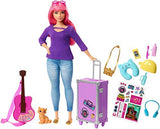 Barbie Doll and Travel Set with Puppy, Luggage and 10+ Accessories